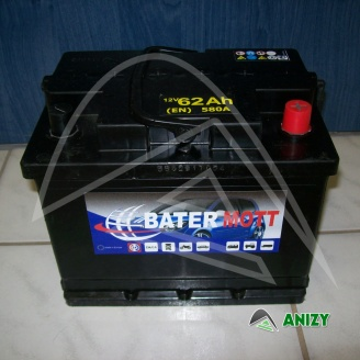 Autobaterie BaterMott 12V 62Ah (580 A)