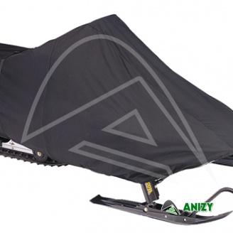Černá vysokokvalitní plachta na sněžný skútr - XL